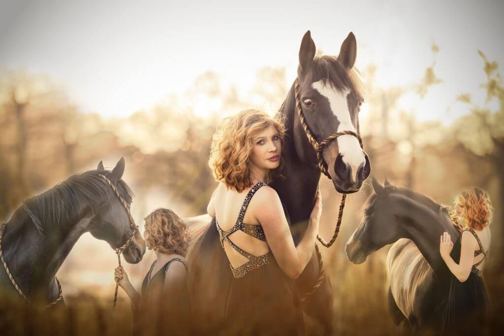 Marion-Luerkens-Collage_Pferd-Frau